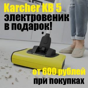 Дарим электровеник «Керхер» при покупках на сумму более 600 рублей